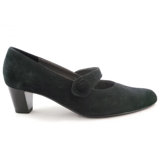 Ara Knokke 12-41405 Black Suede Court Shoe