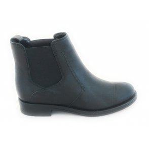 L070 Black Leather Chelsea Boot