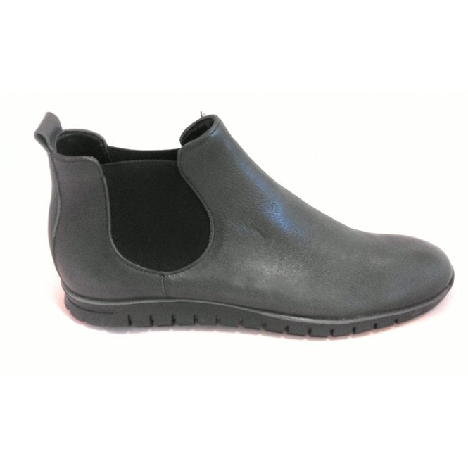 L421 Dark Grey Leather Chelsea Boot