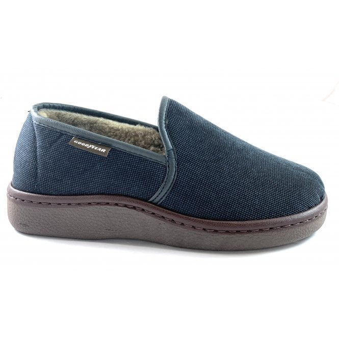 Goodyear Lachlan Navy Mens Slippers