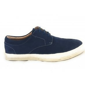 Lambert Navy Suede Lace-Up Men's Casual Shoe