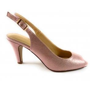 Larissa Pink Metallic Sling-Back Shoe
