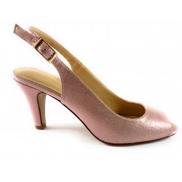 Larissa Pink Metallic Sling-Back Shoe