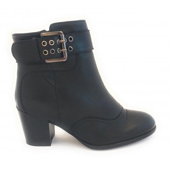 Lotus Lark Black Leather Ankle Boot