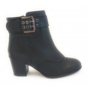 Lark Black Leather Ankle Boot