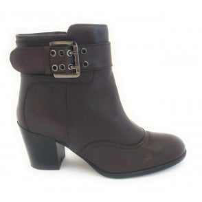 Lark Bordo Leather Ankle Boot