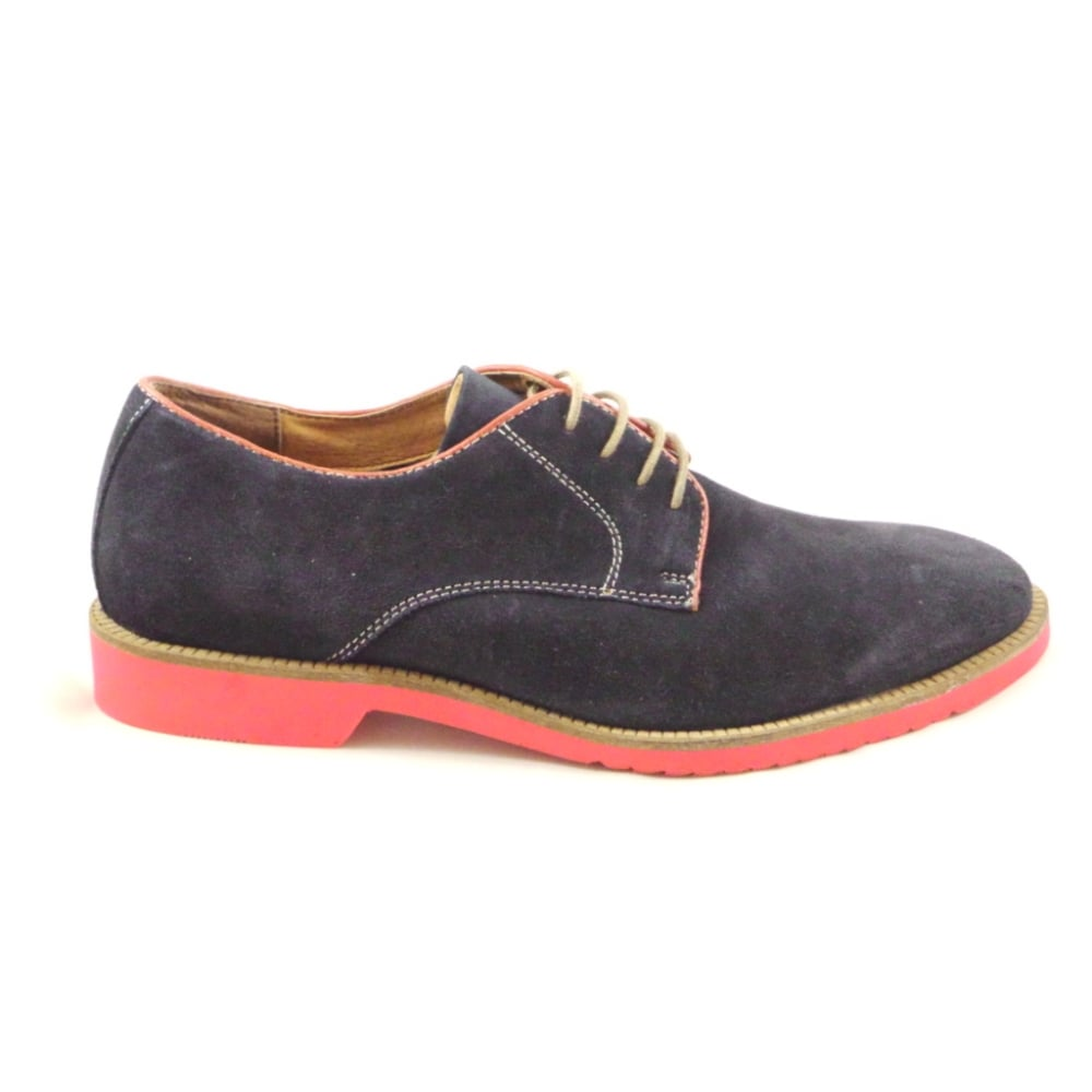 lotus larsson navy suede lace up casual shoe lotus from