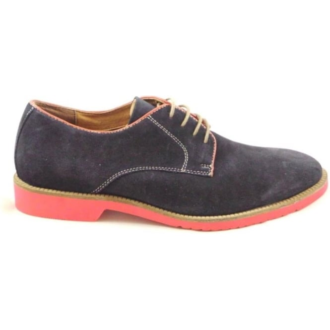Lotus Larsson Navy Suede Lace-Up Casual Shoe