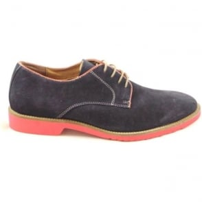 Larsson Navy Suede Lace-Up Casual Shoe