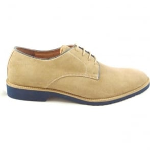 Larsson Stone Suede Lace-Up Casual Shoe