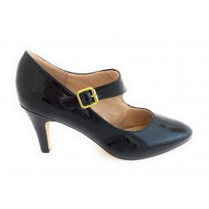 Laurana Black Patent Court Shoe