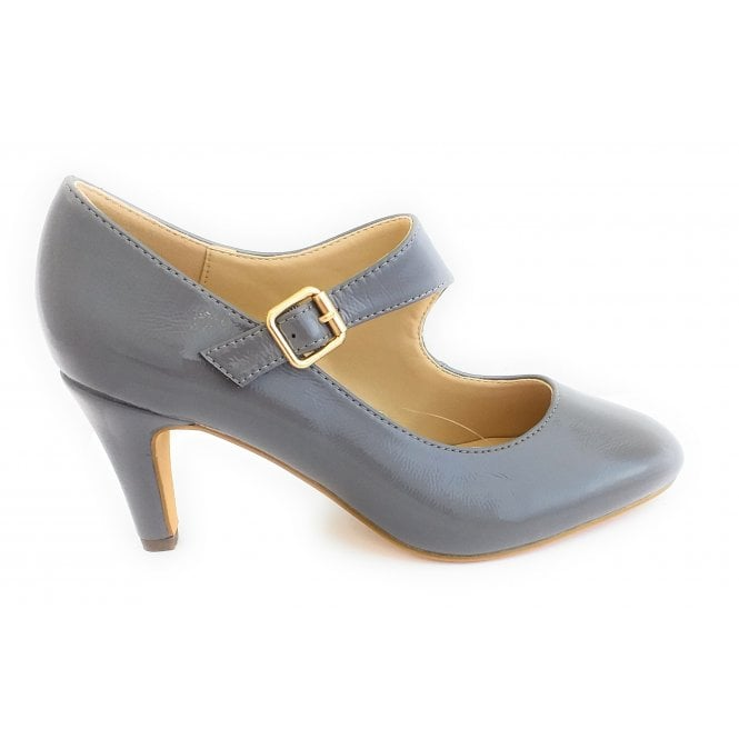 Lotus Laurana Grey Patent Court Shoe