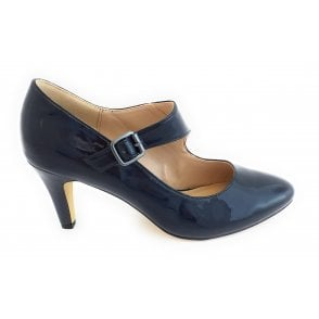 Laurana Navy Patent Court Shoe