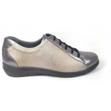 Laurel Pewter Leather Casual Shoes