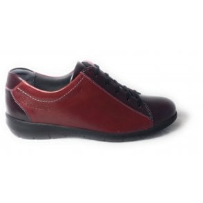 Laurel Red Leather Lace-Up Shoes