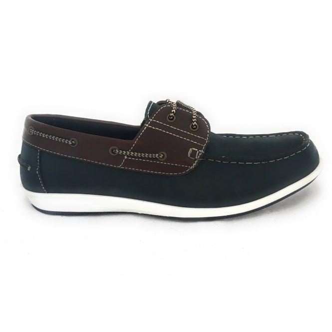 Lotus Lawson Men's Navy Leather Boat Shoe