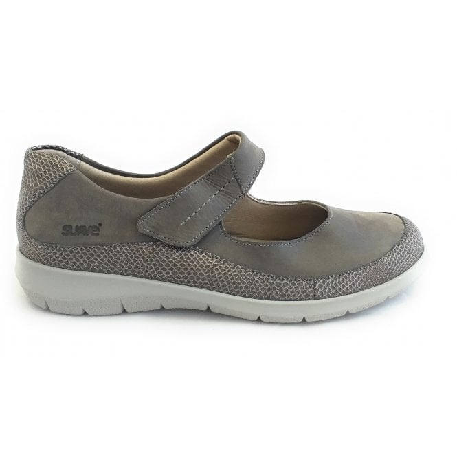 Suave Leah Taupe Leather Casual Shoes
