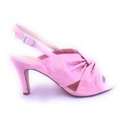 Leandra Pink Metallic Sling-Back Shoe
