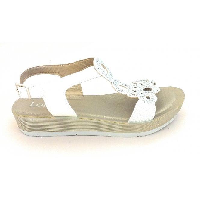 Lotus Leela White Shimmer Sandal