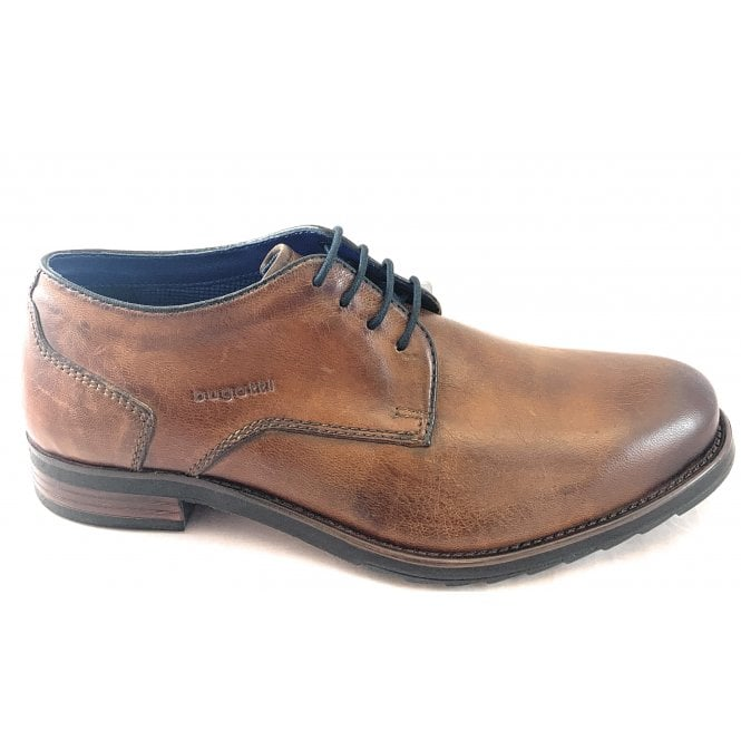 Bugatti Licio Exko Brown Leather Lace-Up Shoe