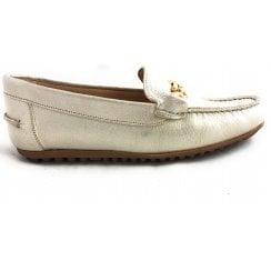 Light Gold Leather Loafer