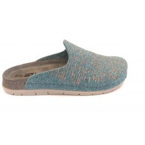 Light Turquoise Mule Slippers