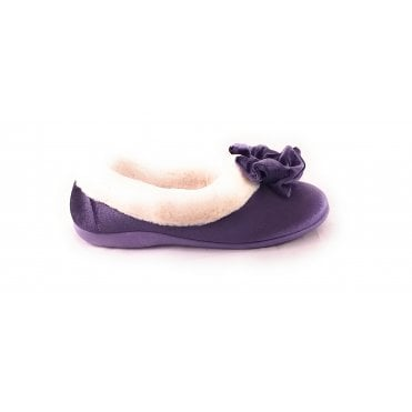 Lilac Velour Slipper