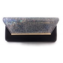 Limmen Black Patent Clutch Bag