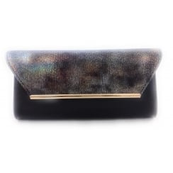 Limmen Navy Patent Clutch Bag