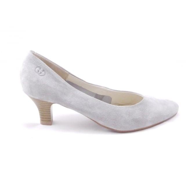 Lindsay 01 Light Grey Suede Court Shoe