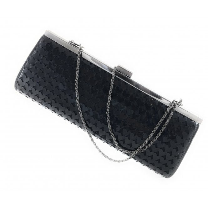 Lotus Littleton Black Shiny Clutch Bag
