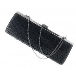 Littleton Black Shiny Clutch Bag