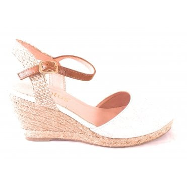 Liv Cream Floral Wedge Espadrille