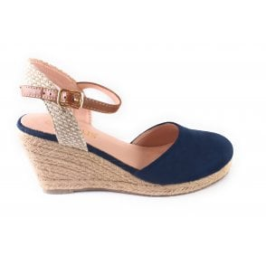 Liv Navy Wedge Espadrille