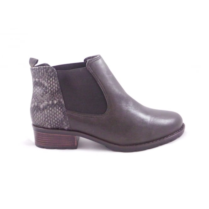Ara Liverpool-St 12-49501 Brown Leather and Snakeprint Chelsea Boot