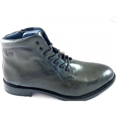 Livorno Mens Olive Leather Boots