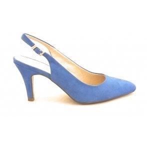 Lizzie Cornflower Blue Sling-Back Court Shoe