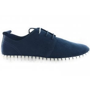 Logan Blue Suede Lace-Up Casual Shoe