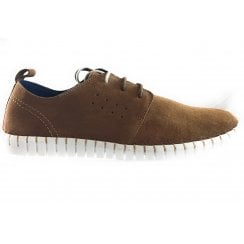 Logan Tan Suede Lace-Up Casual Shoe