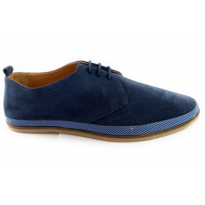Loire Cobalt Blue Suede Derby Shoe