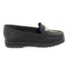 London Black Patent Loafers