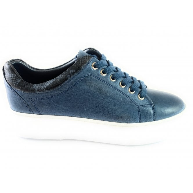 Lotus London Blue Leather Lace-Up Casual Shoe
