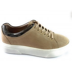 London Natural Leather Lace-Up Casual Shoe