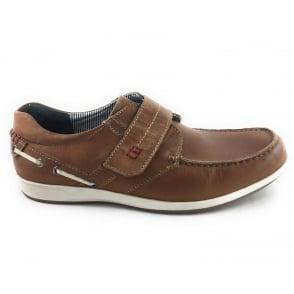 Lotus Baldwin Tan Leather Velcro Fastening Shoe