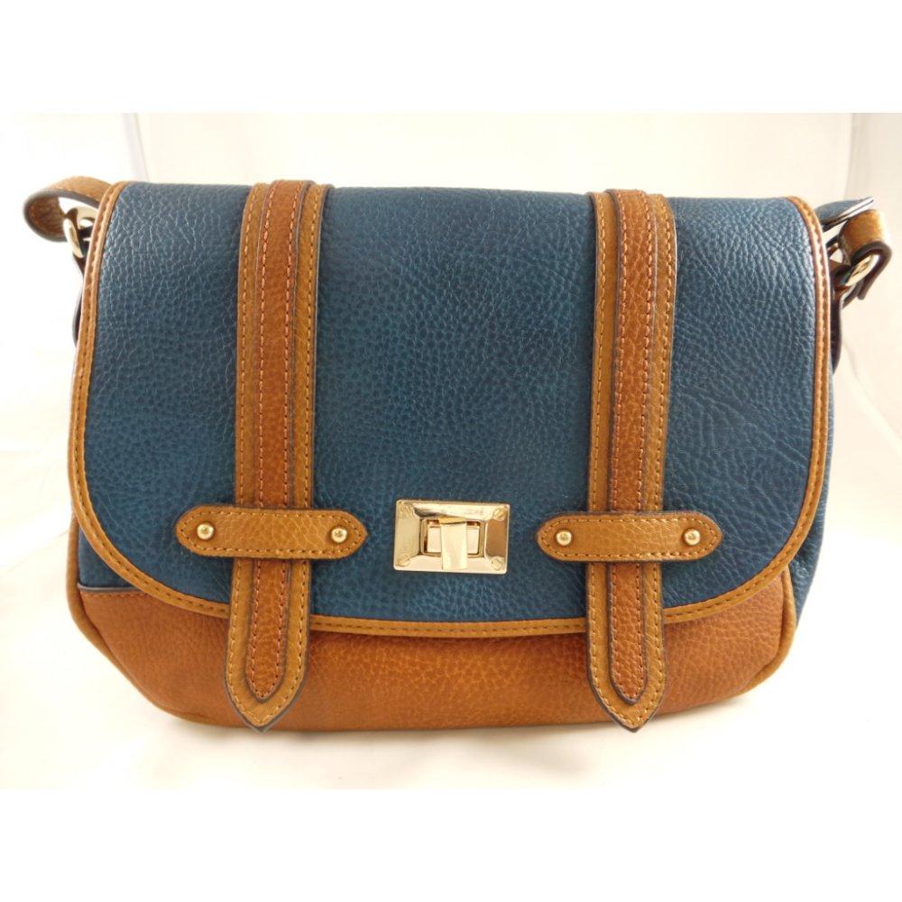 Blue And Tan Shoulder Bag 100