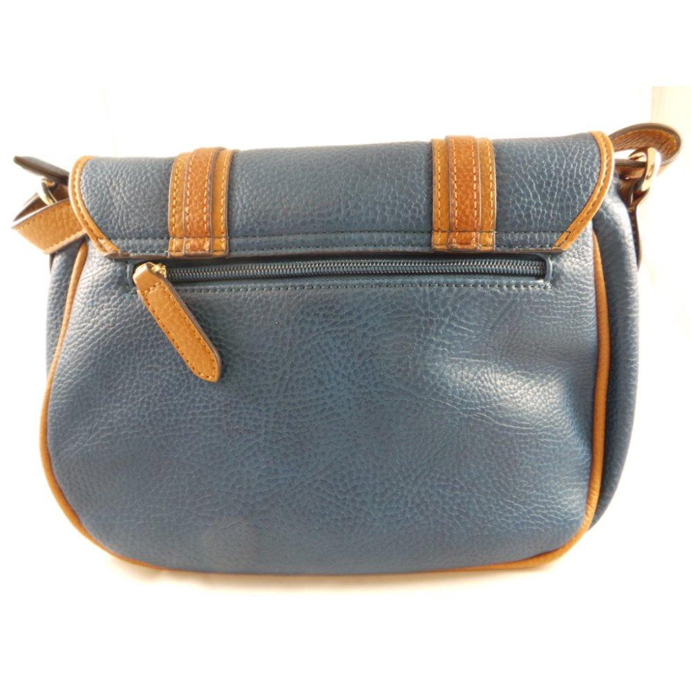 Blue And Tan Shoulder Bag 98