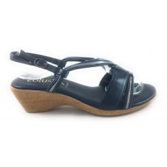 Carrara 20391 Navy Multi Wedge Sandal
