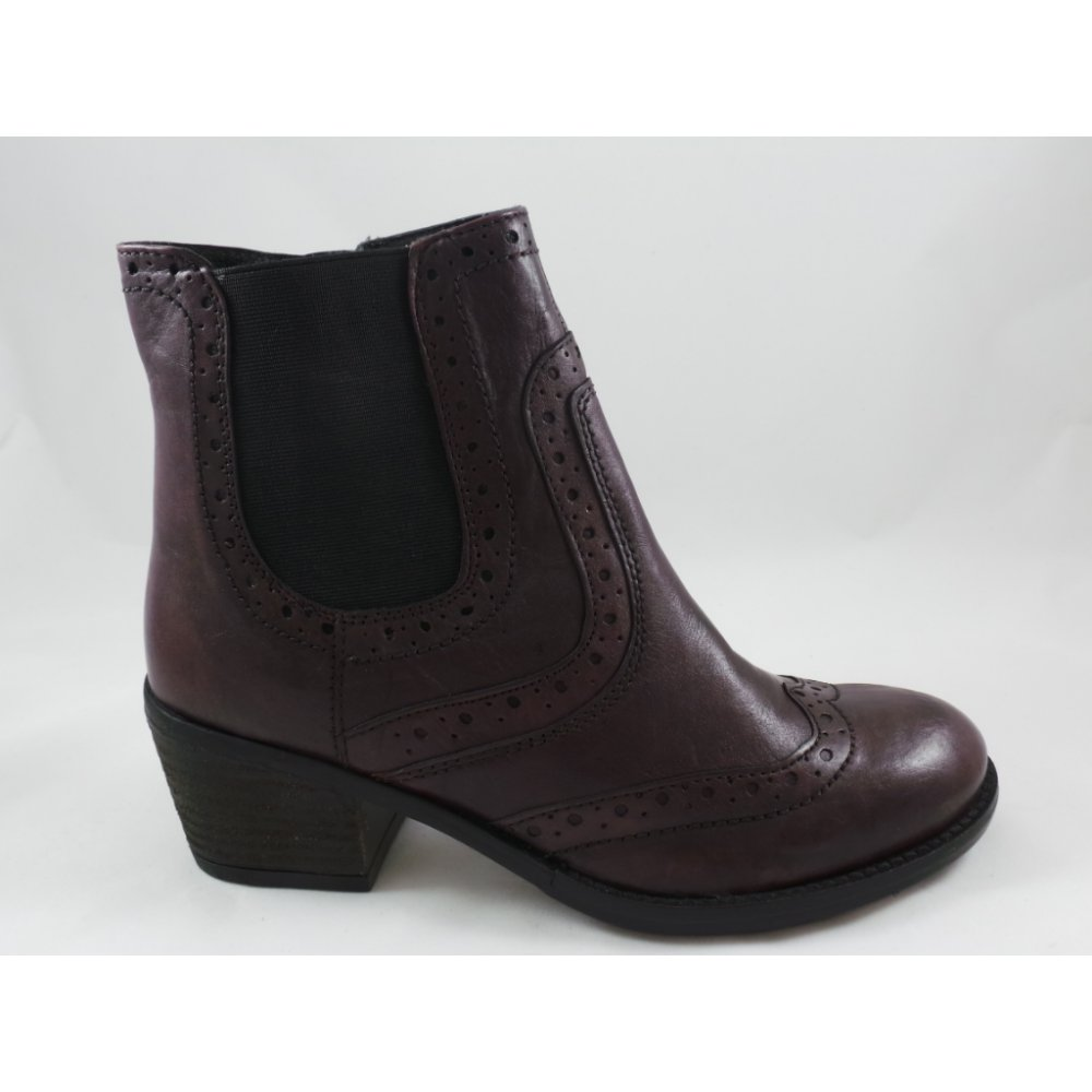 lotus daria bordeaux leather brogue ankle boot lotus from uk. Black Bedroom Furniture Sets. Home Design Ideas