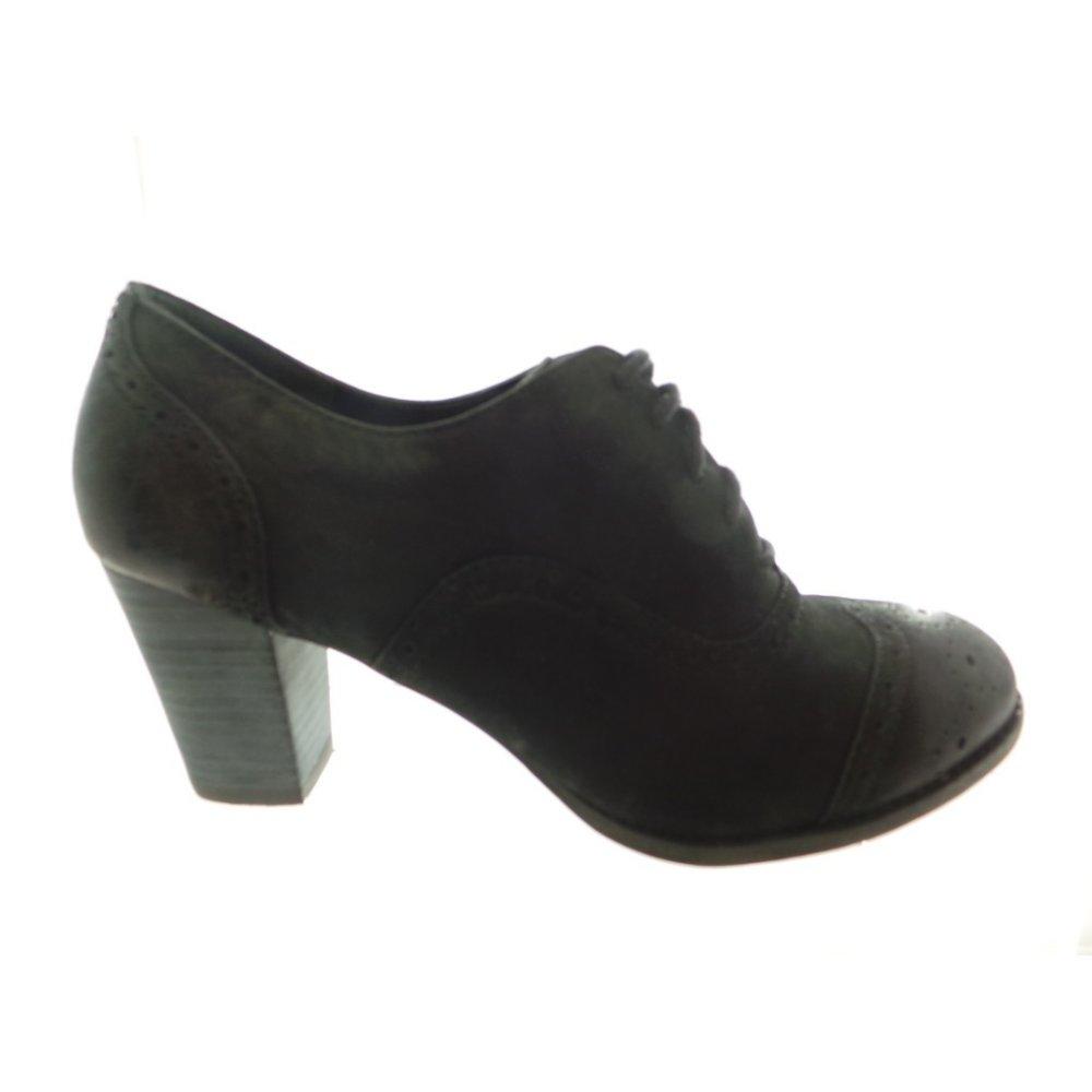lotus duffie black leather brogue shoe boot lotus