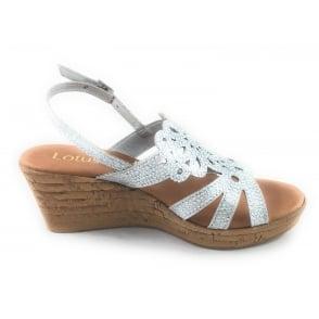 Ludisa Silver Glitz Wedge Sandal